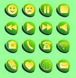 Undertecknar anslutning, mejl, lek, pausen, telefonen, kommunikationsuppsättning Arkivfoton
