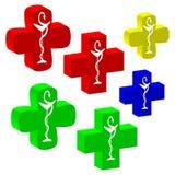 undertecknar den medicinska serien för korset vektorn Royaltyfri Bild