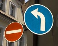undertecknar gatan Royaltyfri Bild