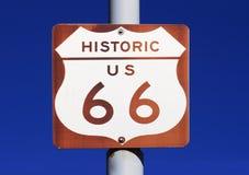 undertecknar historisk route 66 oss Fotografering för Bildbyråer