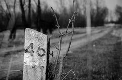 46 undertecknar in Jeziorzany, Polen Arkivbild
