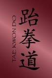 undertecknar taekwondo Royaltyfri Foto