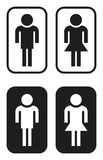 undertecknar toaletten Royaltyfria Foton