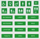 undertecknar toaletten Fotografering för Bildbyråer