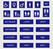 undertecknar toaletten Royaltyfri Fotografi