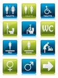 undertecknar toilette stock illustrationer