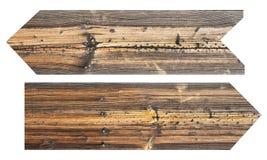 undertecknar trä royaltyfri bild