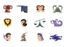 undertecknar zodiac royaltyfri bild
