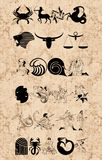 undertecknar zodiac Arkivfoto
