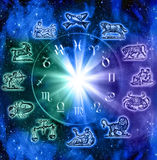 undertecknar zodiac stock illustrationer