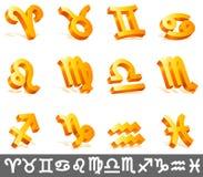 undertecknar zodiac Fotografering för Bildbyråer