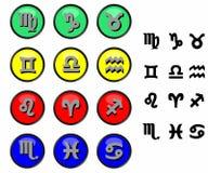 undertecknar zodiac Arkivfoton