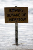 Undertow sign Stock Image