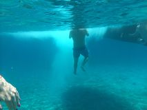 Undervattens- ö Evia ett ställe som där reser royaltyfri fotografi
