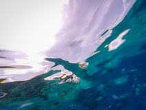 undervattens- abstrakt bakgrund Royaltyfri Fotografi