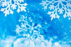 Undervattens- abstrakt bakgrund för snöflinga Arkivbilder