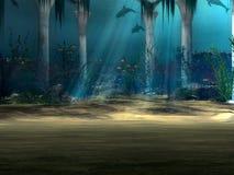 undervattens- bakgrund royaltyfri illustrationer