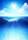 Undervattens- bakgrund Royaltyfria Foton