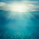 undervattens- bakgrund Royaltyfri Fotografi