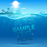 undervattens- bakgrund Arkivbild