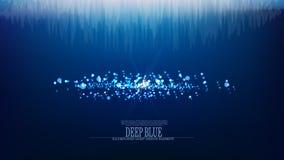 Undervattens- bakgrund för vektorabstrakt begreppjuvel Arkivbild