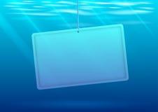 Undervattens- bakgrund med banret stock illustrationer