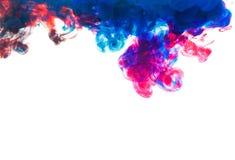 Undervattens- färgdroppe skapa en siden- gardin Royaltyfri Bild