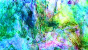 Undervattens- färgdroppe skapa en siden- gardin Virvla runt för FÄRGPULVER som är undervattens- lager videofilmer