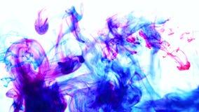 Undervattens- färgdroppe skapa en siden- gardin Virvla runt för FÄRGPULVER som är undervattens- arkivfilmer