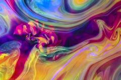 Undervattens- färgrika flytande colors psychedelic Arkivfoton