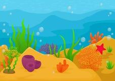 undervattens- för rev för korallfiskliggande tropiskt Royaltyfria Bilder
