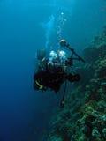 Undervattens- fotograf Arkivbilder