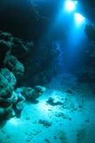 Undervattens- grotta Royaltyfri Fotografi
