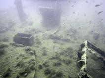 undervattens- haveri Undervattens- skeppsbrott Royaltyfri Bild