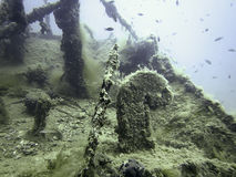 undervattens- haveri Undervattens- skeppsbrott Royaltyfria Foton
