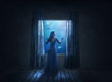 Undervattens- hus royaltyfri foto