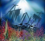 Undervattens- landskaptapet Arkivbilder
