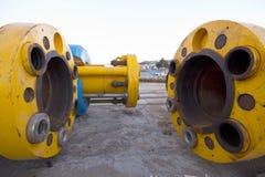 Undervattens- olja eller gasar leda i rör Fotografering för Bildbyråer