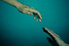 undervattens- räddningsaktion Arkivbilder