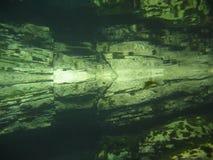 Undervattens- reflexion Arkivfoto