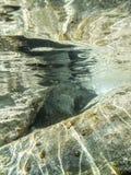 Undervattens- reflexioner Arkivfoton
