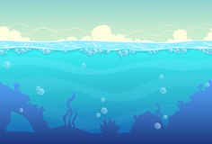 Undervattens- sömlöst landskap Arkivbild