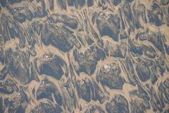Undervattens- sandmodell - abstrakt designbakgrund Arkivfoto