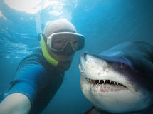 Undervattens- Selfie Royaltyfria Bilder