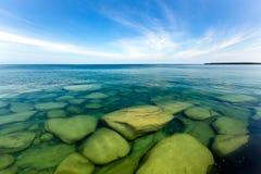 Undervattens- sikt av Lake Superior Arkivbild