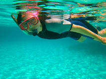 Undervattens- simmare Arkivfoton