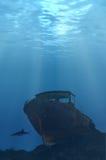 Undervattens- skeppsbrott Royaltyfria Foton