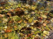Undervattens- stenar Arkivfoto