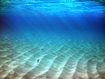 undervattens- sun Royaltyfri Bild