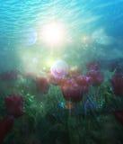 Undervattens- tulpan stock illustrationer